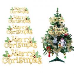 Glad Jul Märker Kort för Julgran Hängande Prydnad