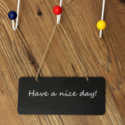 Mini Small Message Note Memo Wooden Blackboard Chalkboard