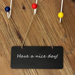 Mini Small Message Bemærk Memo Træ Sortboard Chalkboard
