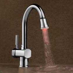 Plastic LED Multicolor Temperatur Licht Wasserhahn Nozzle
