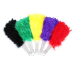 Pure Villus For Party Celebration Gift Feather Folding Hand Fan Festival Gifts & Party Supplies