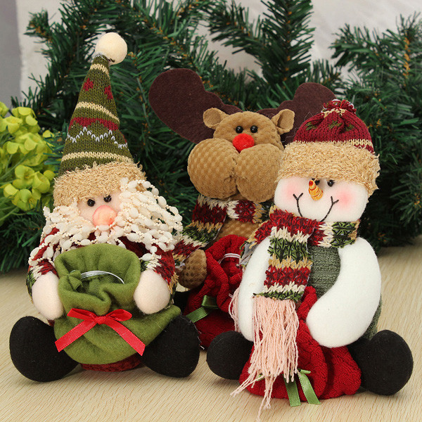 Santa Claus Snowman Deer Candy Bag Christmas Decoration Gift Festival Gifts & Party Supplies