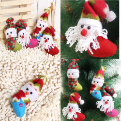 Santa Claus Snowman Sock Style Christmas Tree Ornaments