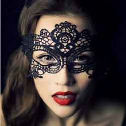 Sexy Lace Prom Masquerade Bold Mask Kostume Bold Mask Sort Hvid