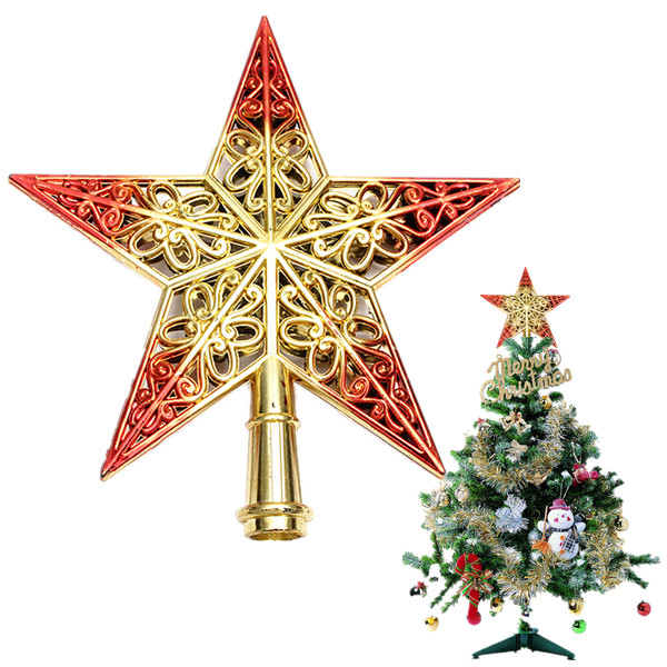 Shiny Decorative Christmas Tree Star Pendant Top Ornament Festival Gifts & Party Supplies