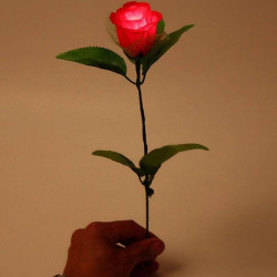 Simulation Luminous  Plastic Rose