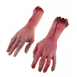 Terror Severed Bloody Fake Lifesize Arms Hands
