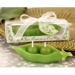 Bröllopspresenter Grön Ärta Shape Candle