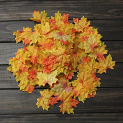100stk Künstliche Ahornblätter Tasche Blatt Partei Dekor Ornament
