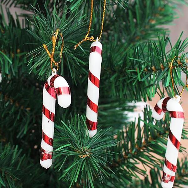 10stk Jul Små Candy Cane Homeparty Tree Festival Dekorationer Haveredskaber