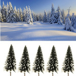 10pcs DIY Landscape Winter Snow Forest Potted Plant Garden Decor Gardening