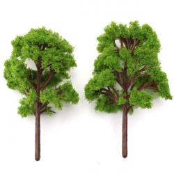 10stk Micro Landskab Simulation Model Tree Blomsterkrukke Dekoration