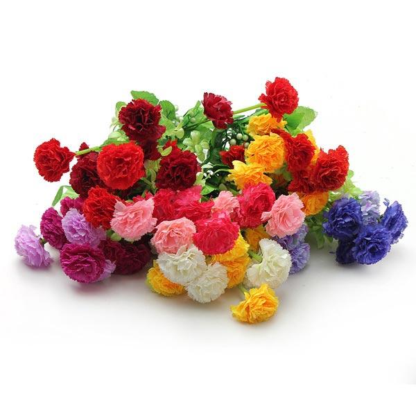 1 Bouquet Kunstig Carnation Lilac Silk Blomster Hjem Decor Haveredskaber