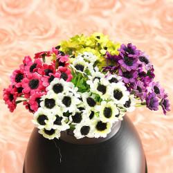 En Bukett Artificiell Solros Silk Blomma Trädgård Dekoration