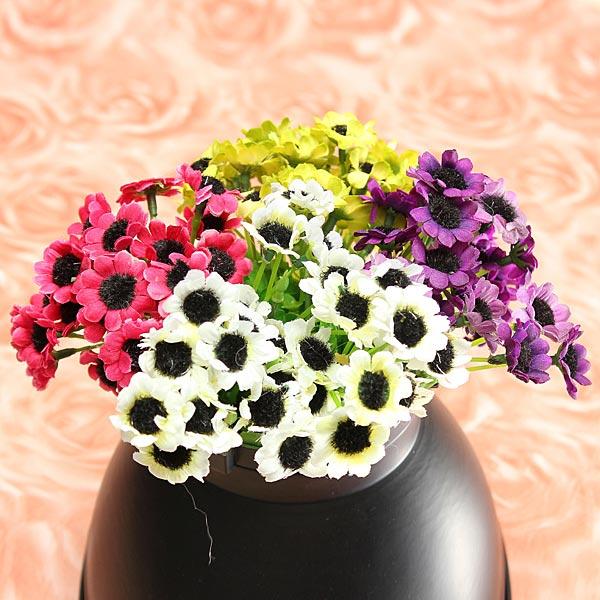 1 Bouquet Kunstig Solsikke Silk Blomst Hjem Have Dekoration Haveredskaber