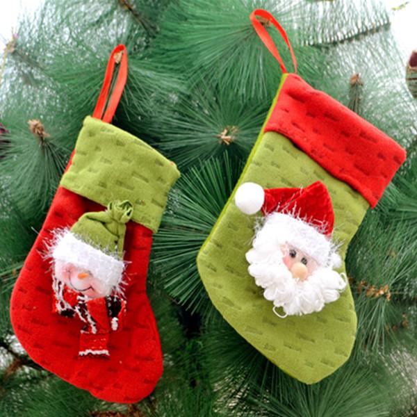1PC Julstrumpa utfyllnadsgods Byxor Fest Sack Bag Trädgårdsredskap