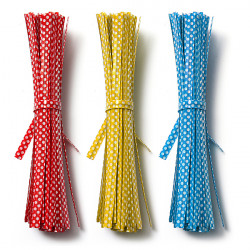 20st Polka Dot Twist Ties Packing Wrap Väska Dekoration