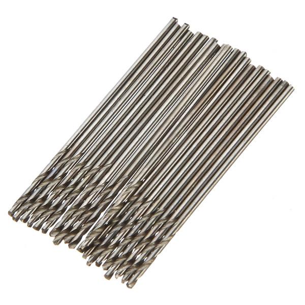 20 Stück HSS Mini Spiralbohrer Zylinderschaft Bohrer Werkzeug Satz Gartengeräte