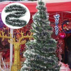 2m Jul Rattan Vedhæng Grøn Hvid Græs Xmas Tree Dekoration