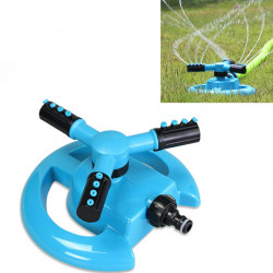 360 Degree Rotation Circular Heavy 3-Arm Lawn Sprinkler Yard Watering