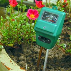 3 i 1 Trädgård Markanalys Tester Hygrometer Surhet PH Ljus Test