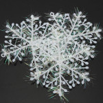 3stk Jul White Snowflake Holiday Party Hotel Decor Supplies Haveredskaber