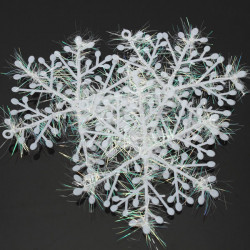 3st Jul White Snowflake Holiday Party Hotel Decor