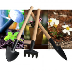 3pcs Wooden Iron Mini Gardening Tools Planting Tools