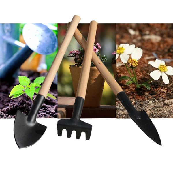 3stk Holzeisen Mini Gartengeräte Pflanzwerkzeuge Gartengeräte