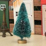 4 * 12cm Mini Hvid Snowy Juletræ Have Ornament Haveredskaber