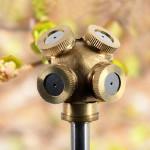 4 Loch Messing Sprühdüse Garten Sprinkler Bewässerung Fitting Gartengeräte
