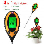 4 in 1 Elektronische Soil Tester PH Feuchtigkeit Temperatur Analyzer Gartengeräte