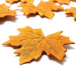 50stk Kunstig Autumn Maple Leaves Hjem Have Dekoration Haveredskaber
