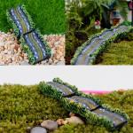 5pcs DIY Mini Resin Highway Pavement Potted Plant Microlandschaf Ornament Gardening