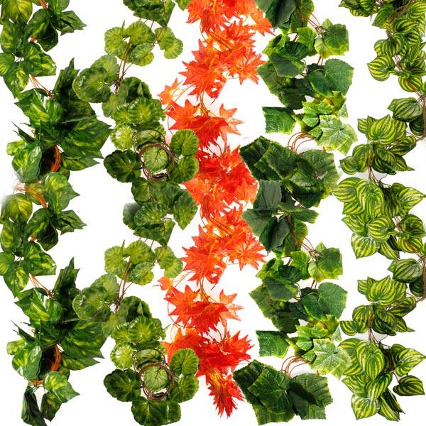 5x Künstliche Ivy Blatt Blume Garland Hausgarten Dekoration Gartengeräte