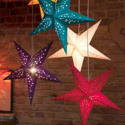60cm Weihnachtspentagram Lampenschirm Dekoration Stern Aufhänger