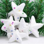 6stk Weihnachtsdekoration White Star Aufhänger Gartengeräte