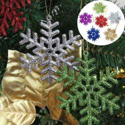6pcs Xmas Decoration Six Colors Snowflake Christmas Tree Decor