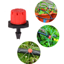 8 Outlets Red Drip Adjustable Flow Dripper Micro Sprinkler
