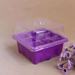 9 Holes Plastic Soil Grow Box Garden Seeds Germinate Boxes