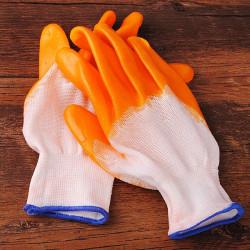 A Pair Gummi Havearbejde Handske Vejrbestandigt Work Beskyttelse Handsker