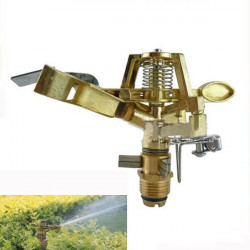 Alloy Brass-toned Rocker Controllable Angle Arm Rotating Nozzle