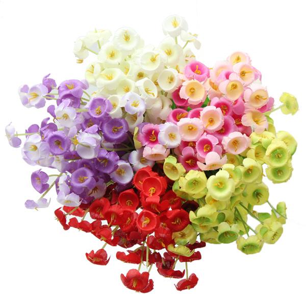 Künstliche Campanula Blumen Blumenstrauß Partei Start Mittel Gartengeräte