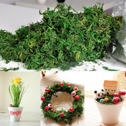 Artificial Dried Reindeer Moss Flowers Basket Garland Decor
