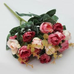 Künstliche Rose Blumenstrauß Fest Ausgangsdekoration Garten Dekoration