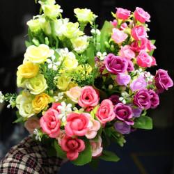Kunstseide Rose Flowers Home Hochzeit Dekoration