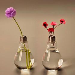 Pære Form Glas Vase Blomst Plant Vand Container Hjem Bryllup Decor
