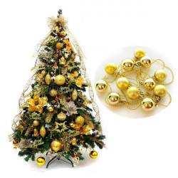 Weihnachten Gold Ball Schnur Dekoration Weihnachtsbaum Ball Anhänger Dekor