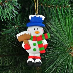 Julen Polymer Clay Snemand Xmas Tree Vedhæng Dekoration