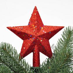 Weihnachten roten Pailletten Sterne Baumkrone Dekor Weihnachten Baumkrone Dekoration